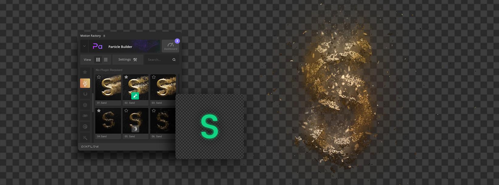 Particle Builder | Sand Pack: Dust Sand Storm Disintegration Effect VFX Generator - Alpha Tool