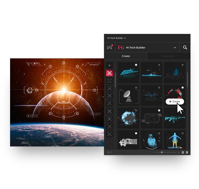 Quantum HUD Infographic Settings UI