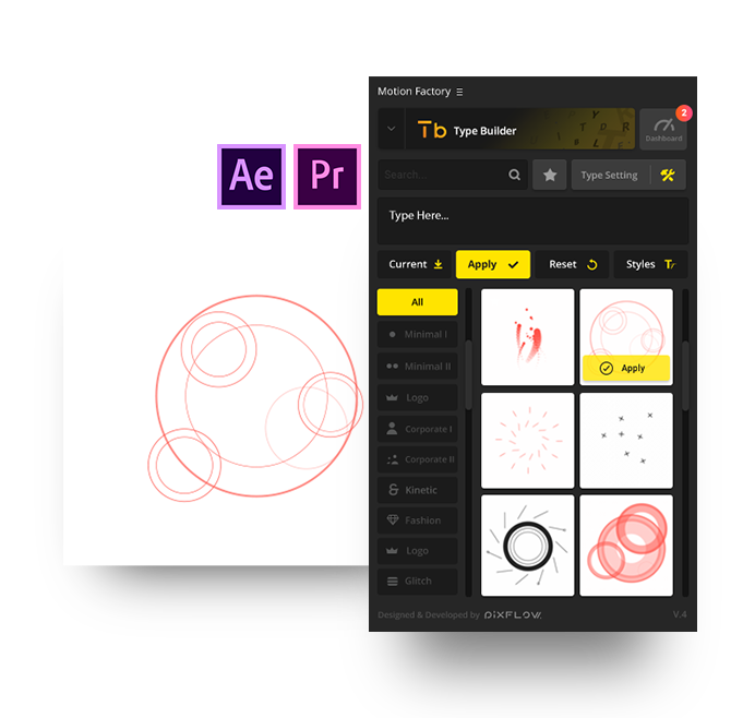 after effects motion shape logo