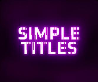 Simple Titles