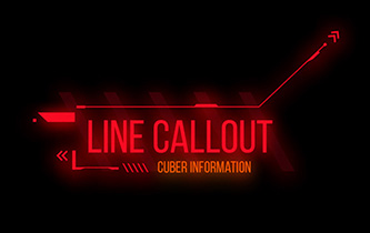 20 Cyberpunk Hud line callouts in After Effects