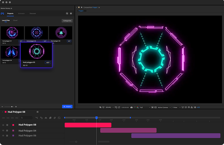 Cyberpunk Hud Polygons in After Effects