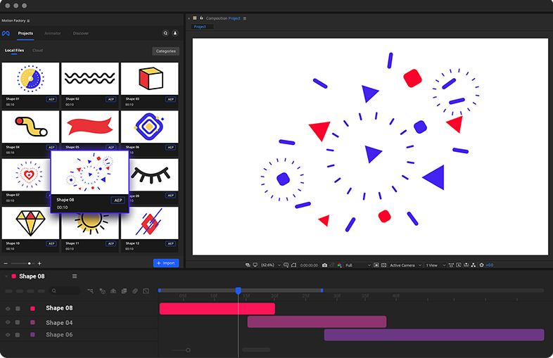 after effects animated shapes