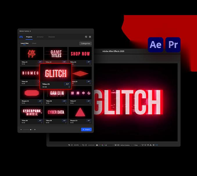 glitch title plugin ui