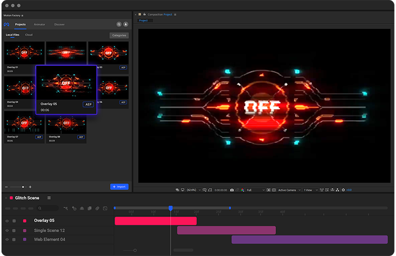 Cyberpunk overlays in After Effects