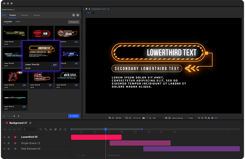 Cyberpunk Medical elements in After Effects