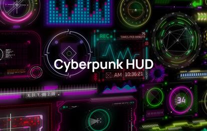 Cyberpunk hud elements