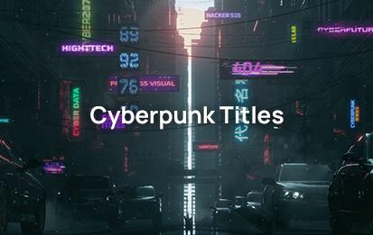 Cyberpunk animated title