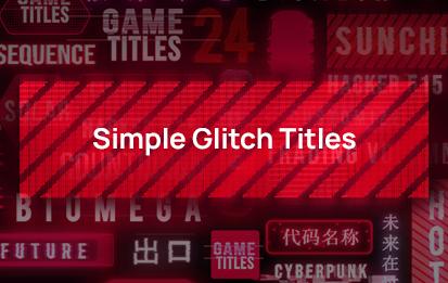 Simple Glitch title