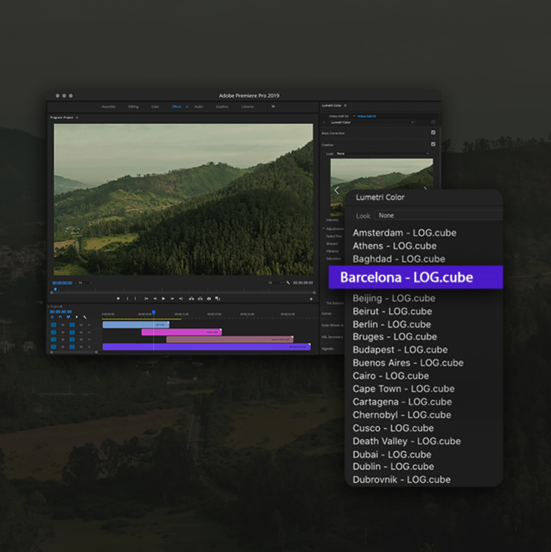 Cinematic Drone LUTs Color Presets Pack